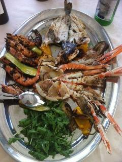 Seafood at a wonderful restaurant Ciccio at Bocca di Magra