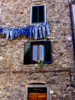 Jeans drying in the next village