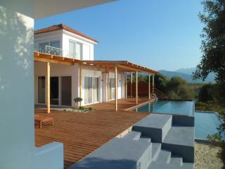 ***STUNNING villa, private grounds, pool with the sea below.  PERFECT***, Amfilochia