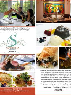 Sapodilla Restaurant.-5 minute drive. 5 Star rating.