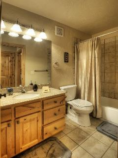 Hall full sized bathroom