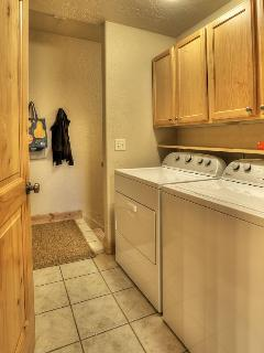 Full sized washer & dryer to make your stay more comfortable.