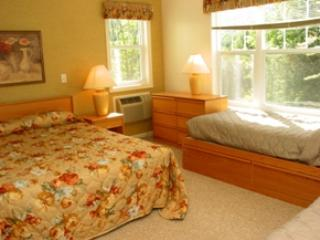 Second Bedroom showing queen bed and one of the twin beds