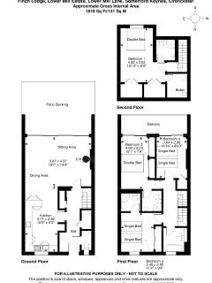 Finch Lodge - 4 x Bedroom holiday villa located on the Lower Mill Estate,  floor plans