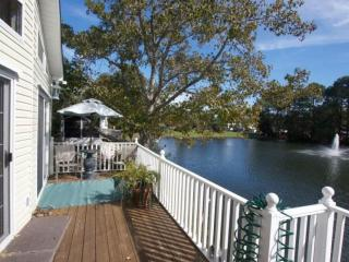 Ocean Lakes Lakefront Palace 2 Bedroom Vacation House with Golf Cart and Hot Tub