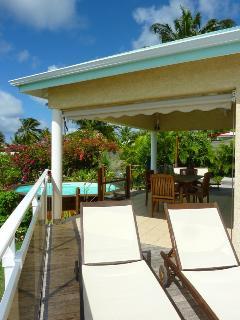 villa iguane house terrasse côté mer