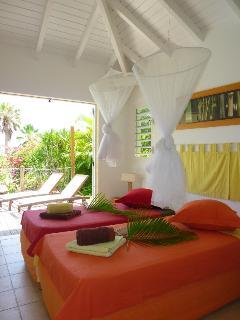 villa iguane house chambre côté jardin version 2 lits