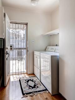 The home's in-unit laundry machines provide the utmost convenience during your stay.