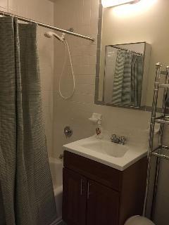 Beautiful clean bath .