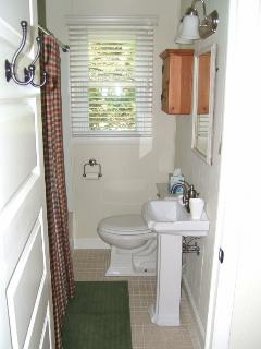 Updated bath room with shower/full bath