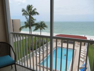 Beachfront condo in exclusive Dolphin Way, Bonita Springs
