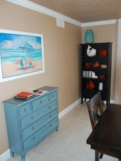 Little Bit of Beach Color in the Dining Area