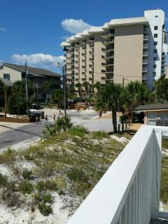 PICTURE TAKEN FROM FRONT DECK SHOWING THE END OF STREET AND BEACH ACCESS