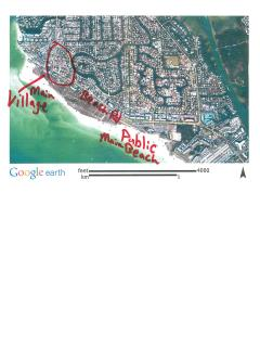 Map of Siesta Key village and Beach