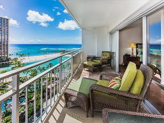 Modern Ocean View Ilikai Condo with Full Kitchen and Tons of Amenities