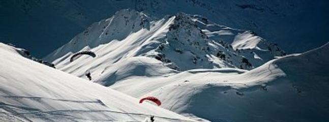 Paragliding is one of the various activities on offer at Les Arcs, winter and summer