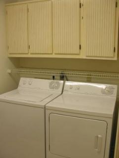 Large Capacity Washer & Dryer in a seperate room!