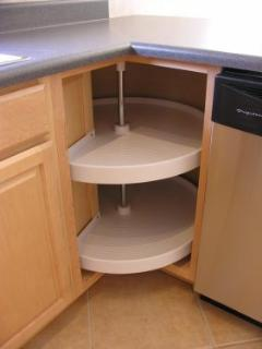 Additional kitchen cabinets.