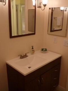 NEW Vanity / Mirror & Medicine Cabinet in the bathroom.