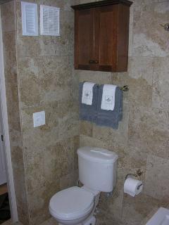 Additional storage cabinet in Master Bathroom.