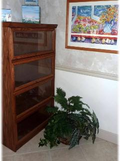 Book shelf, soon to have a private library!