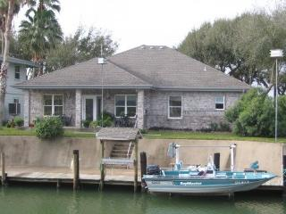 Waterfront Canal Home at 124 Palm Drive, Rockport