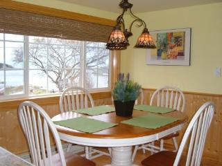 Dining room looking out to Casco Bay