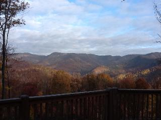 The view of Doughton Park in the Blue Ridge Mtns.