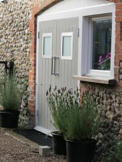 Double stable doors leading from the kitchen