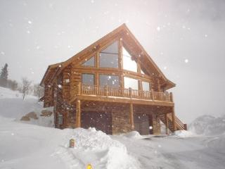 Slopeside Log Home at Powder Mountain, Utah, Eden