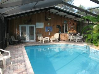 pool home, tropical setting, Ormond Beach