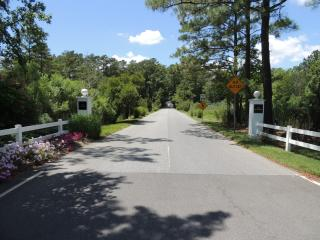 The entrance drive to the Seasons Community.