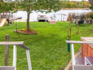 Peaceful 2BR Campbellsport House w/Wraparound Deck, Private Dock & Spacious Yard - Wonderful Lakefront Location w/Close Proximity to Kohler Golf Courses & Whistling Straights!