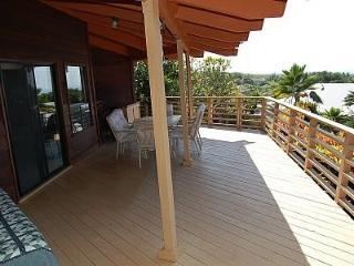 Walk  around entire home on Lanai - relax , eat and watch the  sunsets straight out from this deck