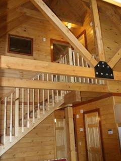Catherdral Ceiling In Honeoye Log Cabin