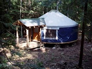 Hike in Backcountry Yurt Rentals, Minerva