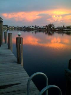 Gorgeous Sunset from Our Own Dock