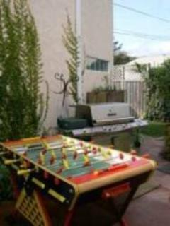 The kids and young at heart will enjoy the Foosball table & the BBQ