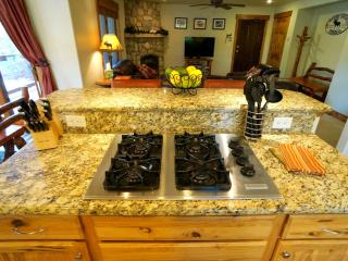 Center Island in kitchen with gas stove