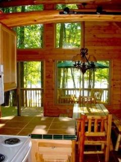 View of Cedar Lake from Kitchen