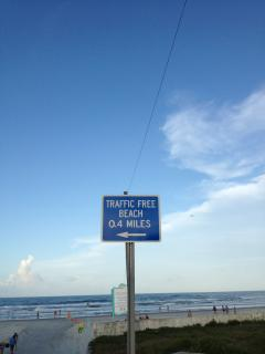 If you prefer a no drive beach - just .4 miles from beach ramp!  Choices!!