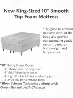 High quality King mattress for a great night\\\'s sleep.
