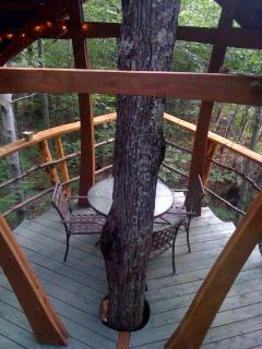 Relax, eat, read on the treehouse pavilion