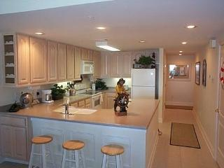 Well equipped kitchen with Corian countertops