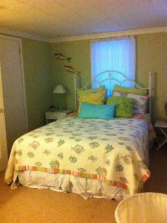 Master Bedroom Queen with sun deck.