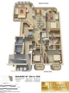 Floor plan of the condo