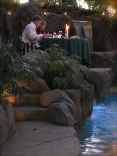 Romantic Poolside dinner prepared by Celebrity Chef