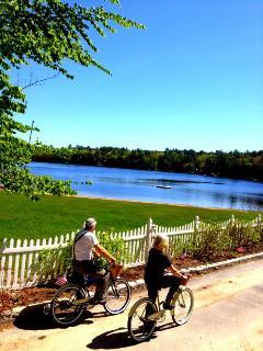 Ride your bike around the lake