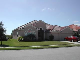 Classic large lakefront family home upscale gated, Bradenton
