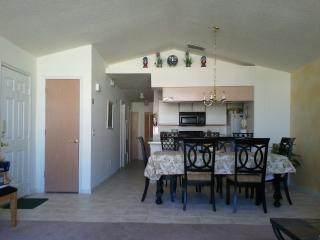 Entrance way and dining room